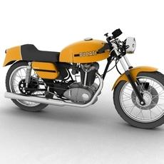 Ducati 350 Desmo 1971 3D Model