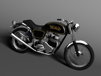 Norton 850 Commando 3D Model