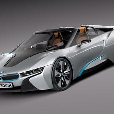 BMW i8 Spyder Concept 2012 3D Model
