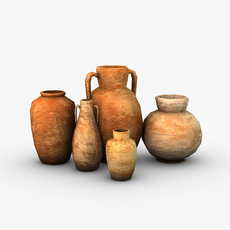 Low poly vases 3D Model