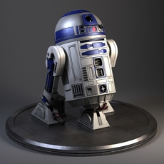 R2D2 Star Wars Droid Robot 3D Model