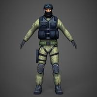 Military Commando 3D Model