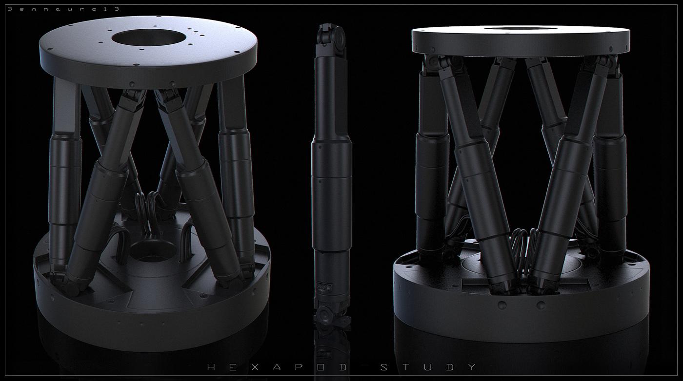 Hexapod 3D Model