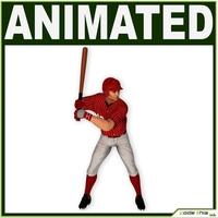 Asian Baseball Player CG (BATTER) 3D Model
