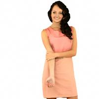 Salmon Dress Girl 3D Model