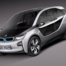 BMW i3 concept 2011 3D Model