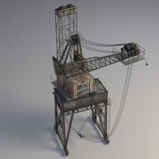 Harbor Crane 3D Model