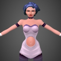 Cartoon Girl Timi 3D Model
