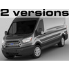 Ford Transit Maxi Van 2014 3D Model