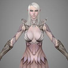 Fantasy Girl Gili 3D Model