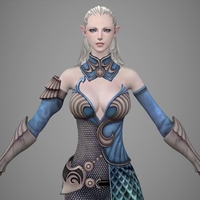 Fantasy Girl Jili 3D Model