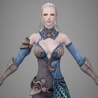 Fantasy Girl Jili 3D Model