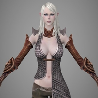 Fantasy Girl Lili 3D Model