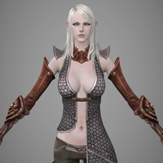 Fantasy Girl Lili 3D Model
