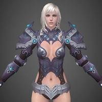 Fantasy Girl Nili 3D Model