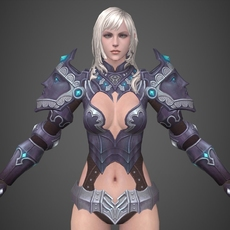 Fantasy Girl Nili 3D Model