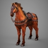09 19 06 684 lowpoly medieval horse 01 4