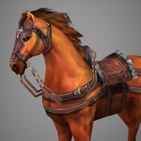 Lowpoly Medieval Horse 3D Model