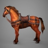 09 19 07 260 lowpoly medieval horse 04 4