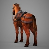 09 19 07 437 lowpoly medieval horse 05 4