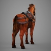 09 19 07 694 lowpoly medieval horse 06 4