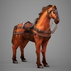 09 19 07 890 lowpoly medieval horse 07 4