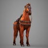 09 19 08 161 lowpoly medieval horse 08 4