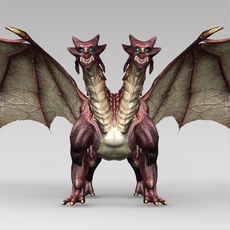 Fantasy Dragon 3D Model