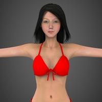 Realistic Woman Babita 3D Model