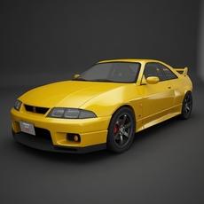 Nissan GTR- R33 3D Model