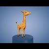 Cartoon Giraffe 3D Model