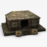 Ancient stone temple 3D Model