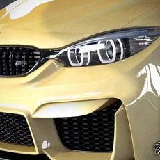 BMW M4 coupè concept 3D Model