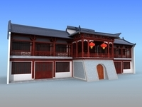 Chinese Building 13 3D Model