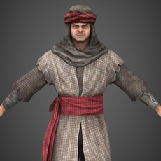 Arab Man Sohrab 3D Model