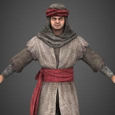 Arab Man Sohrab 3D Model
