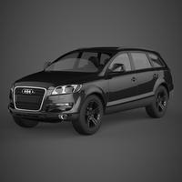 Realistic Car Audi Q7 3D Model