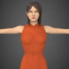 Realistic Female Tina 3D Model