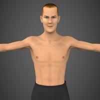 Male Character John 3D Model