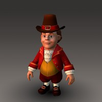 Cartoonish Civilian Male 3D Model
