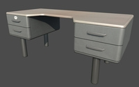 Generic Office Desk 3D Model