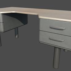 Generic Office Desk 3D Model