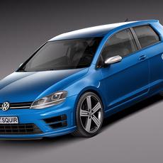 Volkswagen Golf VII R 2014 3D Model