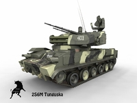 2S6M Tunguska Russian Army Scheme 3D Model