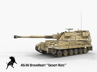 AS-90 BraveHeart Desert Rats Scheme 3D Model