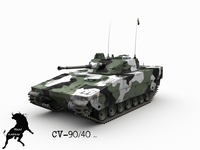 CV-90/40 Swedish Winter Scheme 3D Model