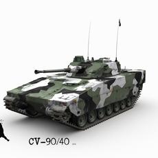 CV-90/40 Swedish Winter Scheme 3D Model