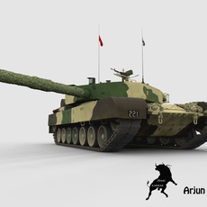 Arjun Tank with Indian Army Scheme 3D Model
