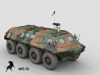 APC-70  with Mexican  Armada Scheme 3D Model