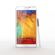 Samsung Galaxy Note 3 White 3D Model